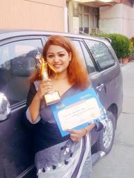 Shilpi varshney -proudly holding the award!
